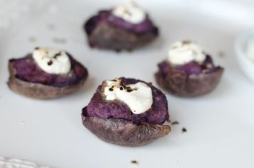 blue cheese purple potatoes