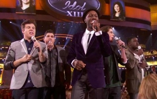 Aloe Blacc and the Idol Guys singing I'm the Man